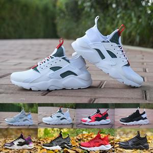 2019 새로운 높은 품질 huarache 4 4 남성 신발 실행 신발 블랙 화이트 레드 옐로우 회색 스 니 커 즈 Huaraches 조깅 스포츠 신발 36-45