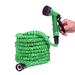 25FT-50FT Garden Hose Expandable Magic Flexible Water Hose EU Plastic Hoses Pipe With Spray Gun To Watering Car Wash Spray