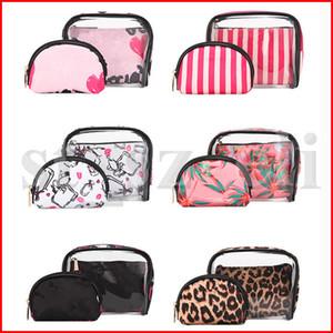 Sacos de Cosméticos Saco de Maquiagem das mulheres PVC multi-função à prova d 'água saco de armazenamento portátil simples bonito menina saco de armazenamento de banho 3 pçs / set