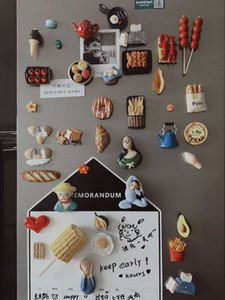 Creative Personality Lovely Cartoon Fridge Magnets Simulated Food Magnetic Stick Refrigerator Decorative Stereo Resin Magnet