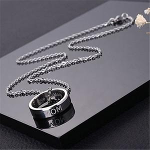 Collar Familia regalo de Día de la Madre Día del amor collares novela de lujo de la joyería collar para Miembros de la familia del padre