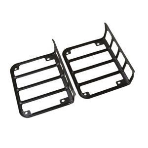 Black Tail Light Guard Cover Protector for Jeep Wrangler JK 2007-2016