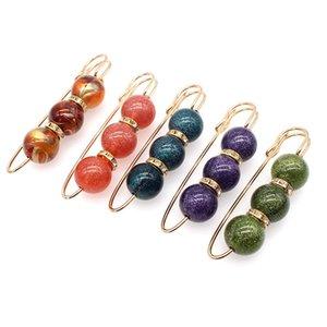 20 pz Big Beads Pearl Brooch Pin Dress Dress Decoration Decoration Fibbia Pin gioielli Brooches per uomo Donne