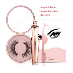 Manyetik göz kalemi uzun maquillaje kadar göz kalemi yanlış kirpikler göz markasını kalıcı kiti cımbız manyetik kirpikler