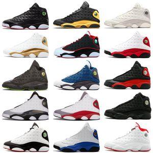 13s Clásico Jumpman 13 zapatos de baloncesto de oliva HOF DMP gato negro que tiene juego hiper real barones hombres mujeres Michael Calzado deportivo