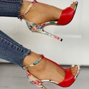 Hauts talons dames Femmes Mode Sexy Summer exquis super Stiletto accrue sandales à talons hauts
