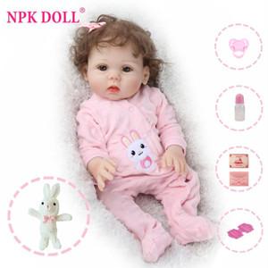 NPKDOLL 18 pouces bébé reborn pleine Vinyle Lifelike Bebe jouets pour enfants enfants Fausse éducation infantile Bain Enfants Playmate Bébé Boneca Y200111