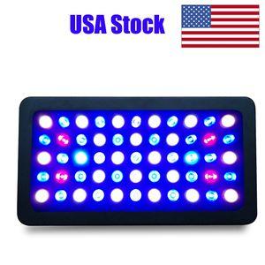 LED Light Acquario Full Spectrum 165W dimmerabili per Fish Tank barriera corallina La crescita in acqua dolce e salata con Bianco Blu lampada