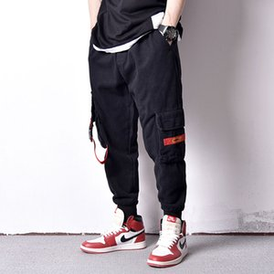 Fashion Streetwear Men Jeans Loose Fit Casual Big Pocket Cargo Pants Homme Slack Bottom Japanese Style Hip Hop Joggers Pants Men