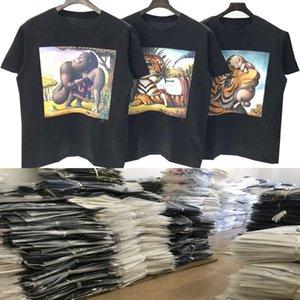 2020SS L tişörtleri baskı marka erkek tişört lüks kısa kollu eğlenceli tişört hip-hop erkek fabrika doğrudan hızlı teslimat