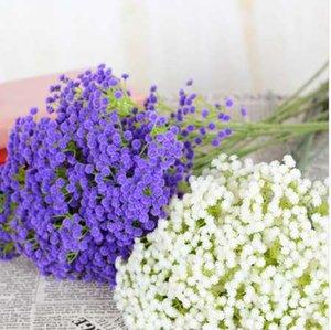 1pic 160 cabeças Flores Artificiais Rurais branco Gypsophila Falso Bouquet de plástico para o Casamento Da Noiva DIY Decorações mantianxing