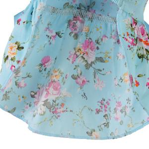 뜨거운 판매 통기성 봄 여름 꽃 인쇄면 귀여운 애완 동물 드레스 개 코스프레 의상 의류 개 의류