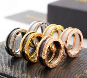Venta caliente de acero de titanio anillo de oro rosa anillo de plata amante destornillador joyería de moda anillo de bodas de las mujeres