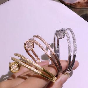 marchio S925 argento di fascia alta calde delle più alta qualità di moda squisita braccialetti aperti gioielli braccialetto amore qualità francese