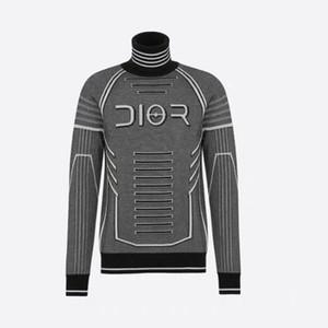 Los hombres que basa Tops Fall delgados suéteres de cuello alto otoño suéteres con capucha Negro ropa para el hombre de algodón suéter de punto masculino Sweaters6