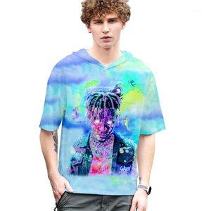 Kısa Kollu Tişörtler Erkek Tasarımcı Kapüşonlular Suyu wrld RIP Homme Baskılı Bayan Erkek Çift Yaz Tshirts Kapşonlu