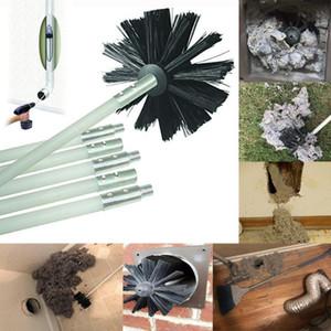 Haushalt Kaminbürste Boiler-Bürsten-Satz-Kessel Trockner Reinigung Trockner Duct Cleaning Kit Verlängert bis zu 12 Feet Synthetic