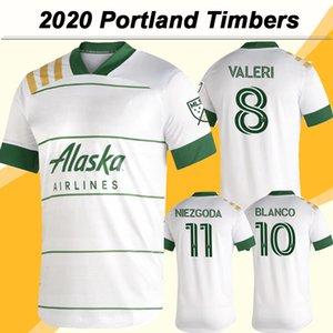 20 21 Portland Timbers Mens Soccer Jerseys New VALERI BLANCO NIEZGODA DIEGO CHARA Home White Football Shirt Short Sleeve Adult Uniforms