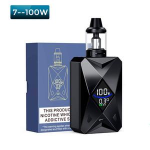 100w Diamond Vape Kit E-Cigarette Vaper 2000mAh Batterie Avec Vaporisateur de Cigarette Électronique Atomiseur de Vapeur Énorme