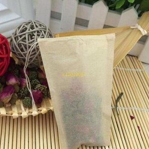 8 * 10 cm Filtres à thé non blanchis Sachets à thé En bois Filtre à pulpe Papier Simple Cordon Sachet De Thé Outil De Thé De Bureau À La Maison