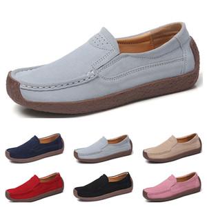 Moda caliente 35-42 nuevos zapatos de cuero de los colores del caramelo chanclos zapatos casuales de las mujeres británicas Eur envío libre de Alpargatas #two