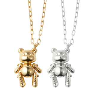 2019 AMBUSH Inflável Urso Gota 925 Prata Colar de Presente de Aniversário de Ouro Caixa Original