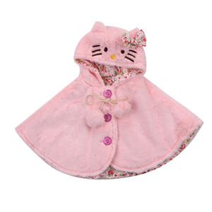 Recién nacido infantil del niño de los bebés con capucha Capa poncho Chaqueta gruesa capa Outwear preciosas ropa de abrigo