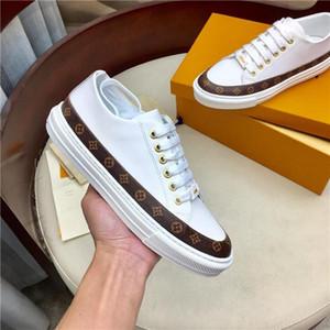 Тренерский Нового женских кроссовок 1A67Q6 STELLAR SNEAKER Luxury Модельер Обувь White Lace кожа платформа кроссовки 35-41