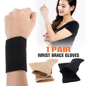 2 piezas de túnel carpiano elástico ayuda de muñeca de la mano del guante artritis Brace Deportes vendaje Gimnasio Wrap