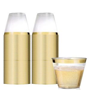 20pcs 9oz di plastica usa e getta Bicchierini Dessert Bicchiere 270 ml Mousse Coppa Parfait Souffle Jelly Contenitore per la festa nuziale