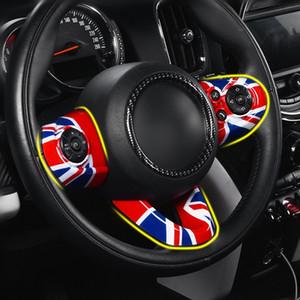 3pcs couverture de panneau de volant de voiture régulateur de vitesse bouton interrupteur moulure garniture pour Mini Cooper F55 F56 Hayon Hardtop Styling