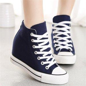 Горячая распродажа-суперзвезда WedgesWoman платформа вулканизированная обувь скрытое увеличение Повседневная обувь Женская chaussure femme