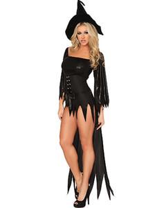 Disfraces de brujas para mujer Disfraces de Halloween para adultos Cosplay Carnival Costume Devil Tassel Deluxe Fancy Dress
