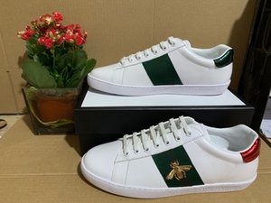 Chaussures Designer bande verte avec des chaussures ace sport haut de broderie abeille snaker qualité baskets concepteur avec la taille de la boîte orinigal 35-46