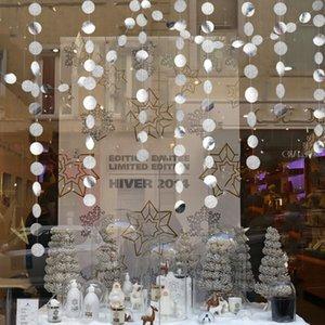 4M Twinkle Star Snowflake Paper Guirnaldas Adornos colgantes Decoraciones navideñas para el hogar Año Nuevo Noel Accesorios Navidad 2019
