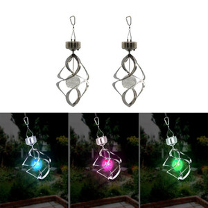 Solar Power lights Wind Spinner LED Lamp Outdoor Hanging Wind Chime Light for Home Garden Lighting Decoration