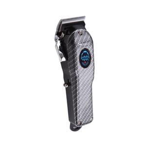 Nuovi capelli elettrico tagliatore professionale USB testa l'olio di ricarica 1800mAh taglio dei capelli macchina a batteria della barba trimmer nero argento SK-807B