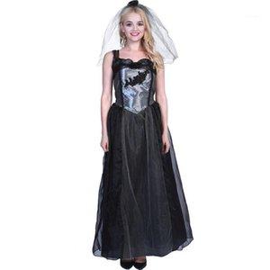Womens Festival Designer Halloween Cosplay Theme Costume Female Clothing Fashion Style Casual Apparel Black Wedding Bride