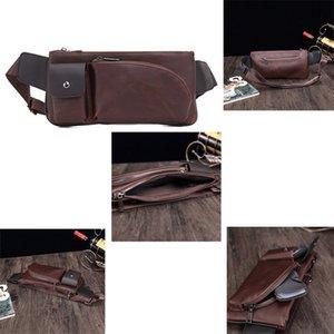 bolso de la cintura de cuero genuino para los hombres riñonera Cinturón de cuero bolsa de paquete de la cintura cinturón de bolsa de dinero bolsa de vagabundo molle pochete
