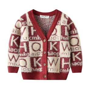 Ins letter boys cardigan fashion baby cardigan boys sweater coats baby sweater coat baby boy clothes Infant coat boys clothes retail B847