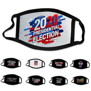 Hot vote Trump 2020 mode design élection présidentielle américaine de luxe face adulte masque lavable réutilisable poussière Masques de protection coupe-vent en coton