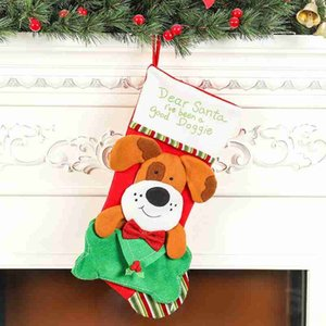 New Large Stocking Sock Gift Christmas Decorations Festive & Party Supplies Holder Christmas Tree Decoration New Year Gift Bags Candy Bags