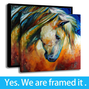 Colorful Painting Art Abstract Equine HD Print on Canvas Children's Decor Animal Framed Art - Ready To Hang - Support Customization