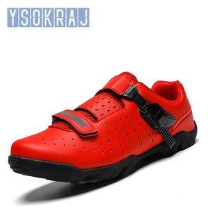 YSOKRAJ الجديد بلين الطريق للدراجات أحذية الرجال الدراجة الطريق أحذية خفيفة دراجات حذاء رياضة الذاتي قفل المهنية تنفس