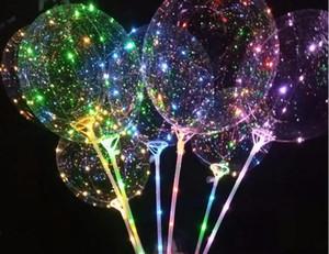 LED мигающий шар прозрачный световой освещение Бобо мяч шары с 70 см полюс 3 м строка воздушный шар Рождество свадебные украшения продажа
