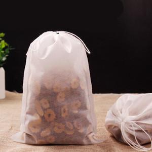 5.5 * 7cm non tessuto Tea Label biodegradabile trasparente vuoto di nylon bustina di corde singole con bustina di tè piramide filtri Borse Kxaam
