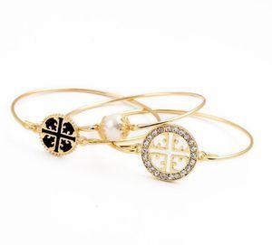 Европейский и американский бренд моды 18k желтого золота с алмазным браслетом женской простого характера студента браслет бесплатной доставкой