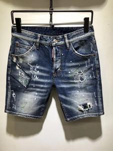 2019, yeni marka moda Avrupa ve Amerikan yaz erkek kot şort, erkek rahat eğilim plaj pantolonu D72