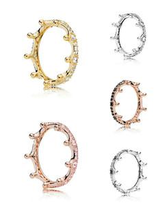 Mischfarbe 100% 925 Sterlingsilber-Ring Magie Crown Ring Valentinstag Geschenk für Mädchen und Frauen Weihnachten Trauringe