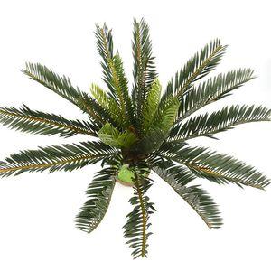 Künstliche Palme Green Leaf Pflanzen Kunststoff Topf Bonsai Zweige Blätter Garten Für Privatanwender Wedding Table Ornaments Dekoration